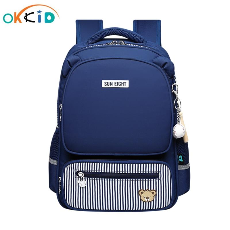 OKKID Children School Bags For Boys Waterproof School Backpack Kids Orthopedic Backpack Boy Bag To School Bookbag Gifts For Boys