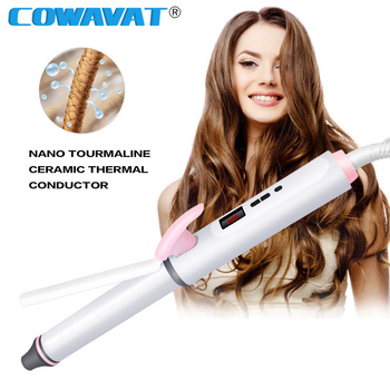 Hair Curler Iron Corrugated Automatic Flat Hair Curling Iron Curlers Travel Ceramic Fast Heating Auto Hair Tools Professional image