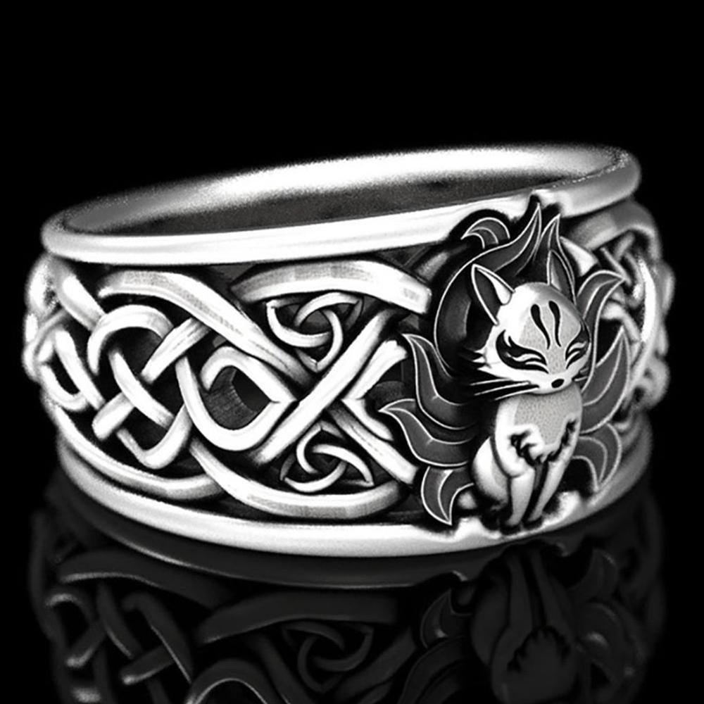 Retro Style Fox Ringe Nettes Geschenk Männer Frauen Schmuck Ring O5Z2