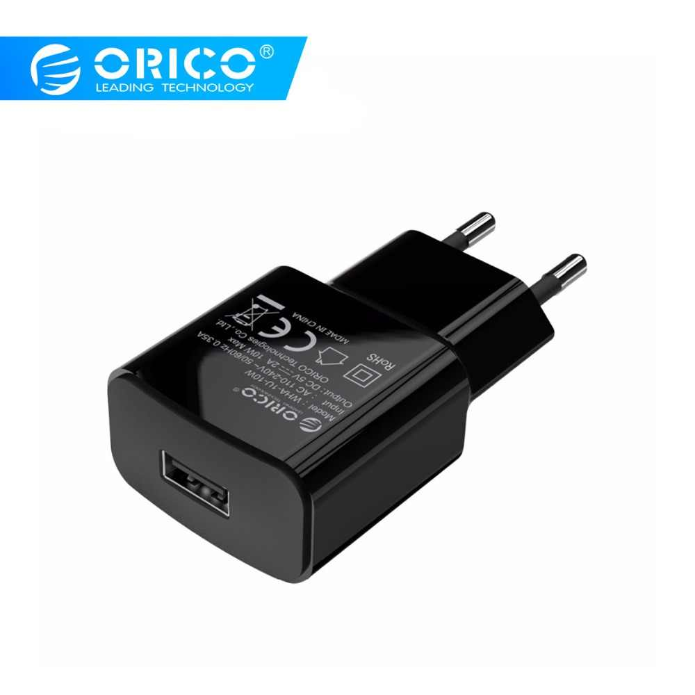 Orico Uni Eropa Plug Usb Charger 5V1A 52A Ponsel Travel Charger Adapter untuk Iphone Samsung Xiaomi Charger Dinding