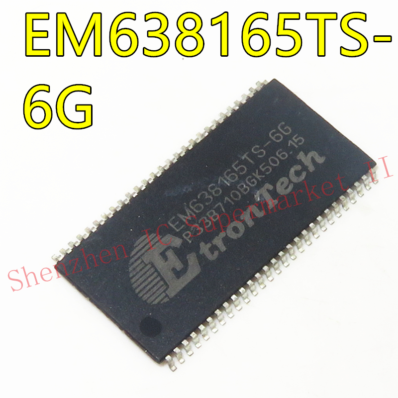 5PCS EM638165TS-6G EM638165TS TSOP54