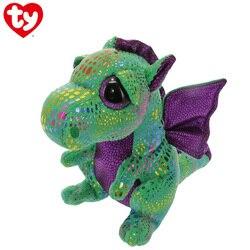 15cm ty boneca cinder dragão verde brinquedo de pelúcia olho grande macio recheado animal dinossauro bat raposa dos desenhos animados modelagem brinquedo menina menino presente