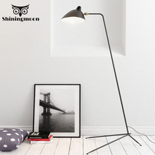 Modern Floor Lamp Iron Metal Black Floor Lamps Nordic LED Decorative Floor Lights European Bedroom Reading Lighting Tall Lamp