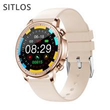 Sitlos 2020 v23 relógio inteligente ip67 à prova dip67 água relógio feminino toque completo mutil-esporte com monitoramento de freqüência cardíaca masculino smartwatch