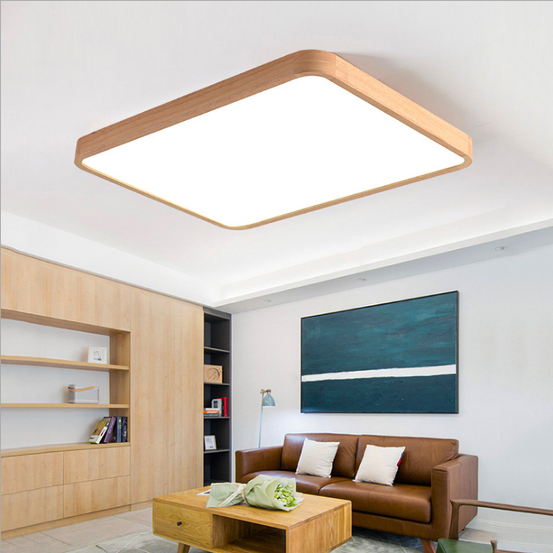 Solid wood LED Ceiling Light Lighting Fixture Modern Lamp Room Bedroom Kitchen Bathroom Surface Mount Remote Control
