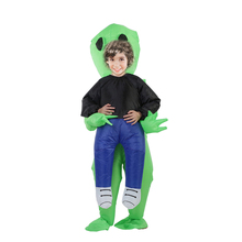 Halloween Costume For Women Men Inflatable Green Alien Cosplay children & Adult Funny Blow Up Pak Party Fancy Dress Party mask