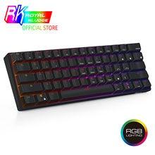 RK kraliyet KLUDGE RK61 RGB kablosuz 60% kompakt mekanik klavye, _ _ _ _ _ _ _ _ _ _ _ _ _ _ _ _ _ _ _ _ Tuşları Bluetooth küçük taşınabilir Tkl kırmızı oyun ofis klavye