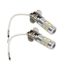 2 pces h3 h1 conduziu a lâmpada 5630 10smd 12v para luzes de nevoeiro h3 conduziu a luz running do dia da lâmpada do automóvel