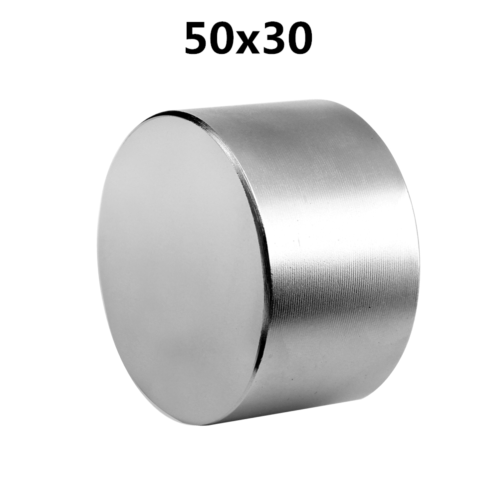 1pcs Strong Round Dia <font><b>50mm</b></font> x 30mm N52 N40 N35 Rare Earth Neodymium <font><b>Magnet</b></font> Art Craft Fridge 50x30mm image