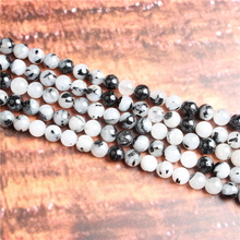Fashion jewelry 4/6/8/10 / 12mm Black crystal, suitable for making jewelry DIY bracelet necklace