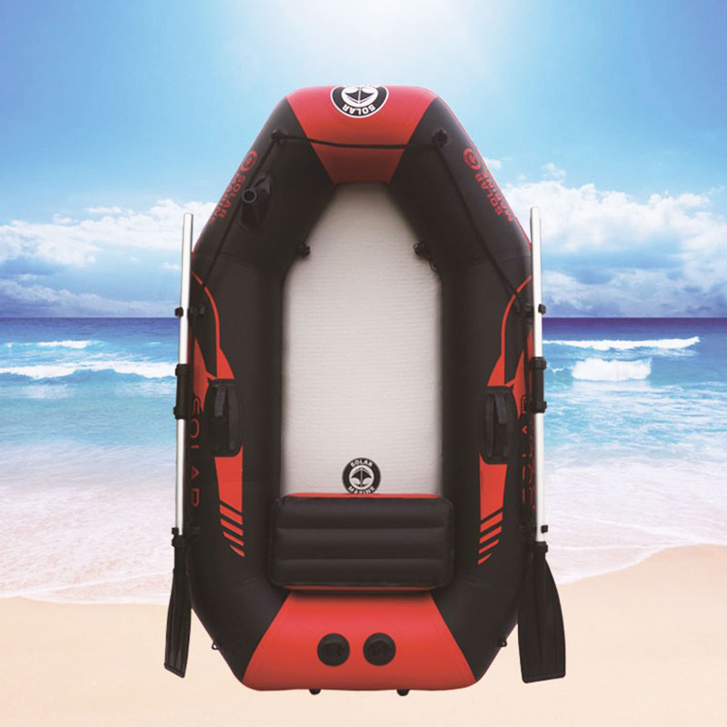 Outdoor Water Inflatable Boat175cm PVC Boat  Wear-resistant 1-2Person Inflatables Kayak Fishing Boat Air Deck Bottom E-Motor
