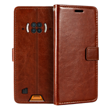 Doogee – étui portefeuille en cuir PU à rabat magnétique, avec porte cartes et béquille, pour S96 Pro