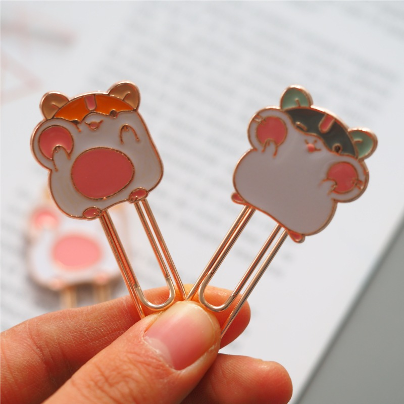 Small Cute Hamster Metal Bookmark Paper Clip School Office Supply Escolar Papelaria Gift Stationery