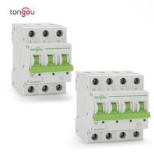 3P 4P 6A 10A 16A 20A 25A 32A 40A 50A 63A Miniature Circuit Breaker 6KA 110V/220V/400V 50/60HZ MCB TOMC7 63
