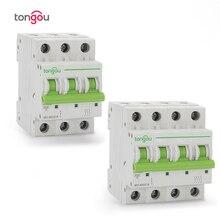 Disjoncteur Miniature 6KA 110V/220V/400V/TOMC7 63 V 50/60HZ MCB, 3P 4P 6a 10a 16a 20a 25a 32a 40a 50a 63a