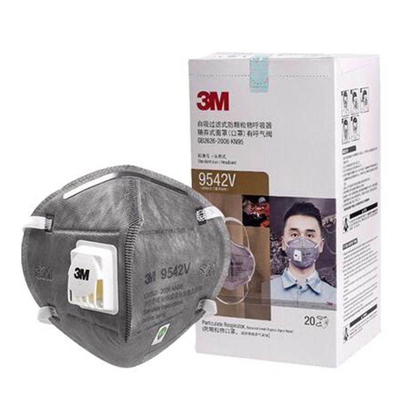 10pcs 3M KN95 Mask Mascara Anti-Dust マスクmascara N95 Mascherine Ffp3 Adjust Reusable N95 9542V Mask Valve Mascarillas