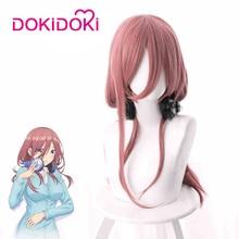 DokiDoki Anime Cosplay Wig The Quintessential Quintuplets Nakano Miku Hair Women Burgundy HairAnime