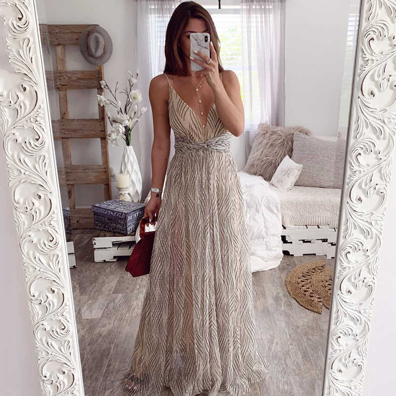 Affogatoo vestido de verão rosa festa à noite, vestido sexy com decote em v na cor rosa sem encosto longo para dia de festa à noite mulheres