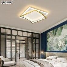 Carré Simple nouveau moderne LED lustres lumières gradation Luminaire chambre Salon étude Foyer Salon éclairage lampes ménage
