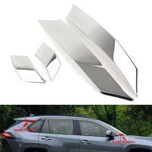 Moldura de poste de pilar para puerta de coche, moldura de pegatina para Toyota Rav4 2019 2020 RAV 4, accesorios de decoración de acero cromado