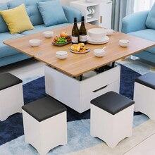Креативная мебель для дома, складной журнальный столик для гостиной, столовой, подвижный подъемный столик