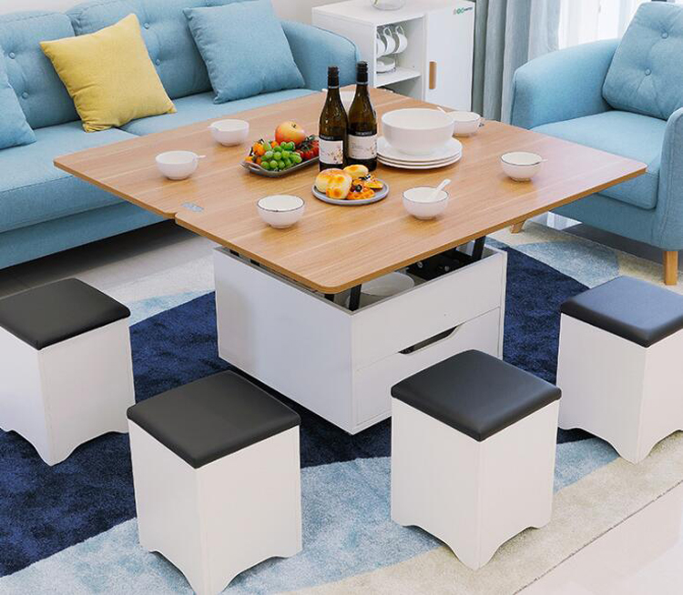 Creative Home Furniture Folding Coffee Table For Living Room Dining Room Moveable Lifting Side Table