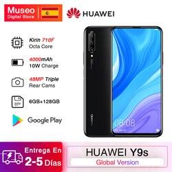 Premiera wersja globalna Huawei Y9s 6GB 128GB 48MP Smartphone trzykrotnie AI Cam auto-pop Up przednia kamera 6.59