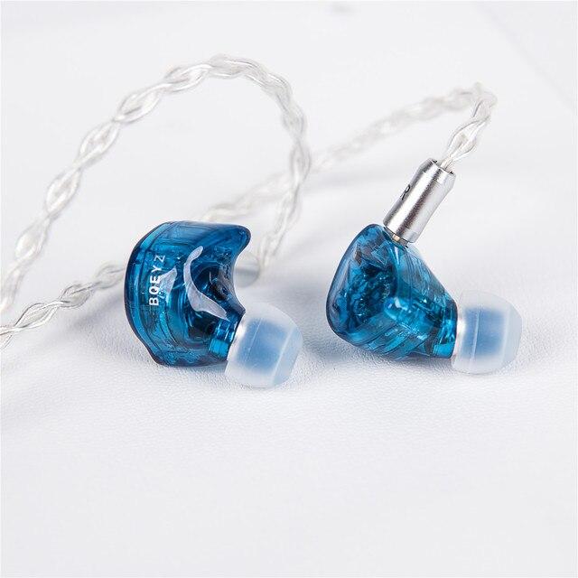 BQEYZ auriculares internos HiFi con 3 controladores híbridos, Auriculares Aislantes de ruido con Cable mejorado desmontable, IEM equilibrado