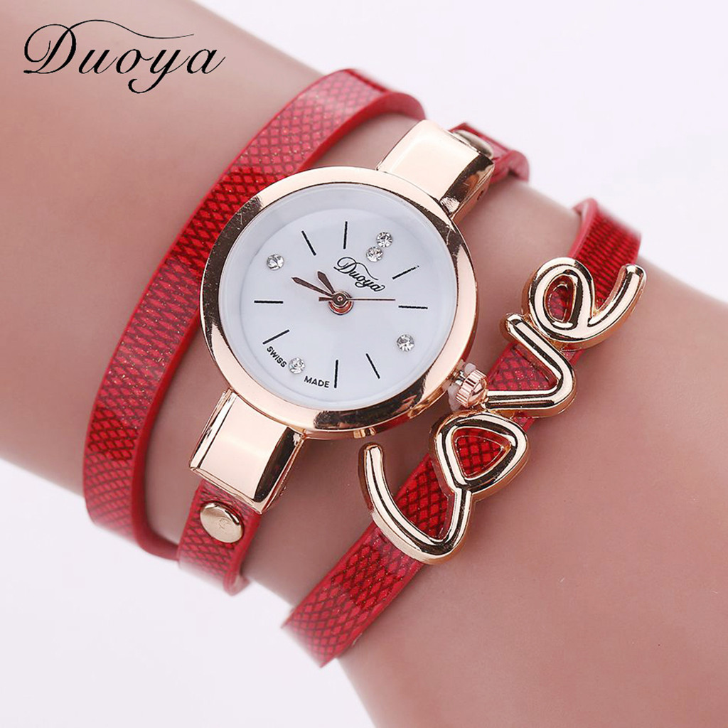 Women Watches Fashion Leather Strap Ladies Bracelet Watch Simple Small And Exquisite Dial Wrist Ladies Casual Dress Clock#C