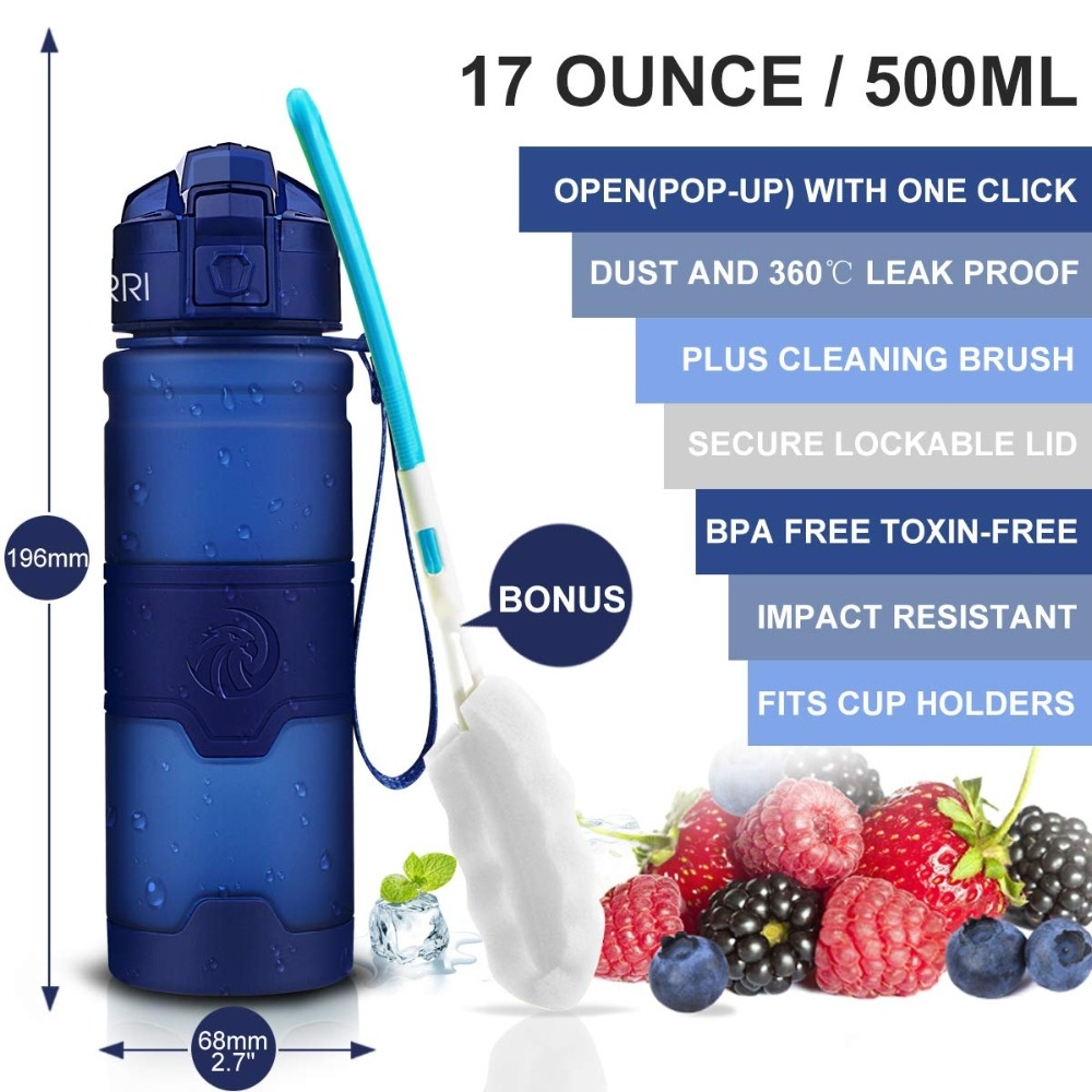 Hbfd13a30f163457bae613d4761bb4bcal Best Sport Water Bottle TRITAN Copolyester Plastic Material Bottle Fitness School Yoga For Kids/Adults Water Bottles With Filter