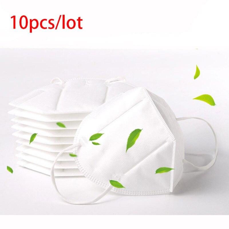10PCS CE FAD KN95 Mask Flu Virus Proof Anti Infection KN95 Masks 95% Filtration PM2.5 Protective Masks