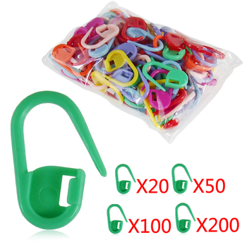 200Pcs Mini Knitting Crochet Locking Stitch Marker Mix Color Plastic Knitting Tool Needle Clip Hook Baby Greeting Card Nappy Pin image