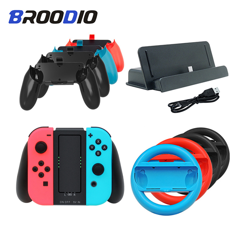 For Nintendo Switch Gamepad Grip Handle Charger Dock Station Joystick Stand Holder For Nintend Switch NS Joy-Con Game Controller
