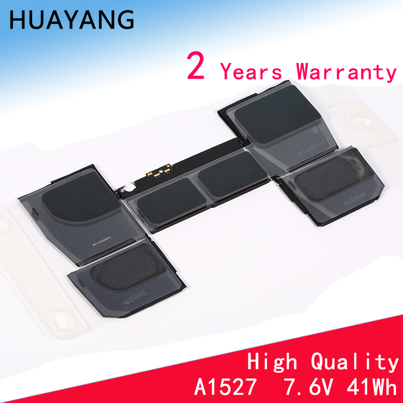 HUAYANG HIGH Quality A1527/A1705 Battery For Apple Pro 12'' A1534 2015 Year 661-02267 613-01926-A