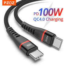 Pzoz 100w pd usb c para usb tipo c cabo de carga rápida 4.0 60w carregamento rápido para macbook ipad pro samsung carregador cabo USB-C cabo