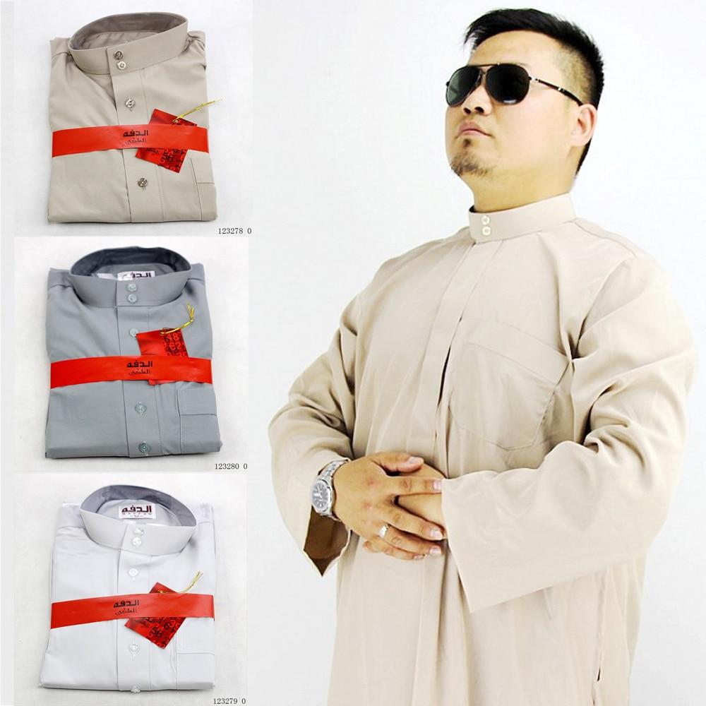 Arab Men Jubba Thobe Abaya Traditional Islamic Clothing Kaftan Muslim Robes Saudi Arabic Dubai Turk Mubarak Prayer Gown Outfits
