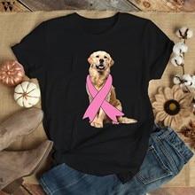 T-shirt avec plumes de ruban pour femmes, esthétique, lutte contre le Cancer du sein, pour la sensibilisation
