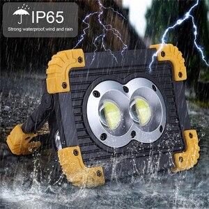 Image 5 - 100W 슈퍼 밝은 Led 휴대용 스포트 라이트 작업 빛 USB RechargeableLed Latern 토치 캠핑에 대 한 2*18650 또는 3 * AA 배터리 사용