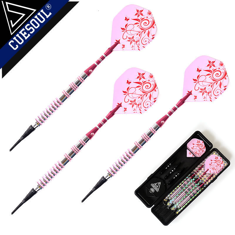 Professional Darts 17g 15cm Soft Darts Electronic Soft Tip Dardos With Aluminum Alloy Shaft Pink Color