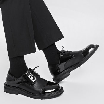 Men Streetwear Vintage Fashion Business Casual Genuine Leather Wedding Loafers Shoes Harajuku Korean Style Male Leather Shoe Man