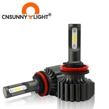 CNSUNNYLIGHT 슬림 CSP LED 자동차 전조등 전구 H4 H7 H11/H8 H1 9005 9006 H13 9004 H27 H3 42W 7000Lm 5500K 자동 전조등 안개등