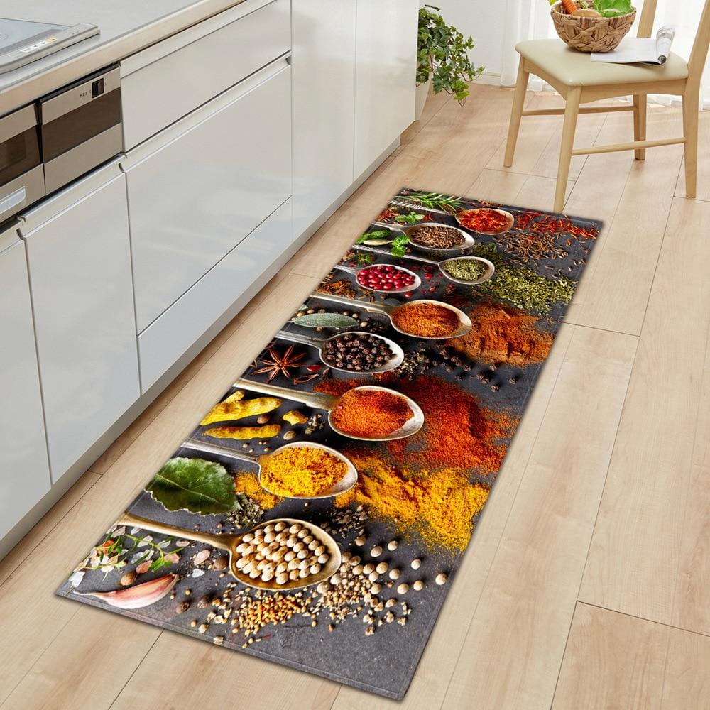 Кухонный домашний коврик противоскользящий длинный 1