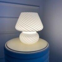 Moderne Glas Kleine Tisch Lampe USB Powered Schreibtisch Licht Schlafzimmer nacht Lampe für Home Office Dekoration innen leuchte