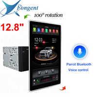 "180 ° 1080P 1920*1080 12.8 ""PX6 IPS Android 9,0 RAM 4GB 32GB Auto DVD player GPS RDS Radio Wifi Bluetooth 2 Din für universal-PC"