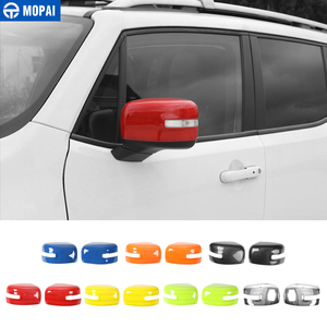 Image 1 - MOPAI Car Rearview Mirror Decoration Cover Stickers for Jeep Renegade 2015 Up Exterior Rear View Mirror Accessories Car Styling