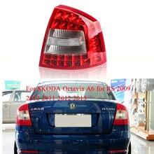 MIZIAUTO 1PCS Tail Real Light for SKODA Octavia A6 for RS 2009 2010 2011 2012 2013  Warning Light Brake Light  Bumper Light Fog цена 2017