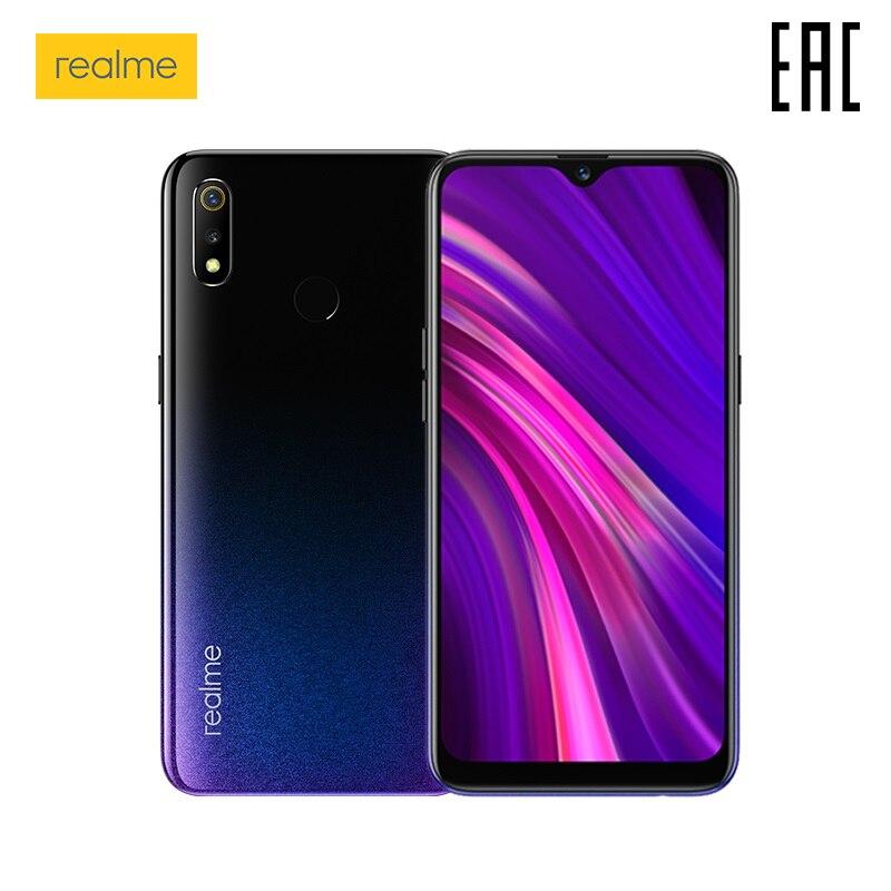 Smartphone realme 3 + 4 + 64 GB potente procesador, batería de 4230 mAh, la garantía oficial rusa producido en las fábricas OPPO