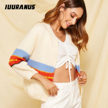 IUURANUS Autumn Winter Mohair Cardigan Sweater Women Long Sleeve Kint Female Plus Size