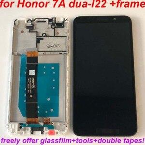 Image 4 - Pantalla LCD Original para Huawei Honor 7A Probado AAA, montaje de digitalizador con pantalla táctil con Marco, 100% dua l22, 5,45 pulgadas