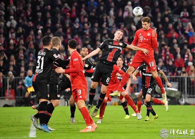 德甲第13轮 拜仁1:2勒沃库森 门柱挡住胜利之门6
